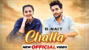 R Nait Challa Lyrics Status Download Punjabi Song Ode ik chandi de chhale ne veere chhaal chkati yaaran di WhatsApp video black background.